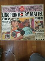 VINTAGE LINOPRINTER by MATTEL Printing Press Toy with Original Box and Manual