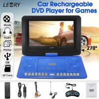 "9.8""/13.8""/16"" inch Portable DVD Player EVD TV USB Game Rotate Screen Remote"