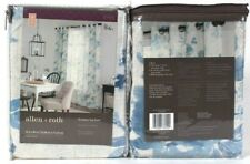 """2 Count Allen & Roth 1085005 Lyla 52"""" X 84"""" Blue 94% Polyester Grommet Top Panel"""