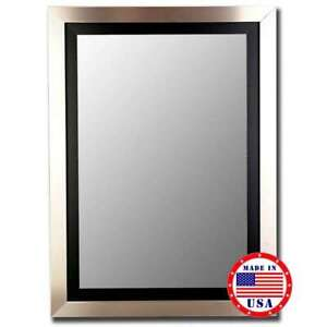 """Hitchcock Butterfield 38"""" X 48"""" Silver / Black Framed Wall Mirror - 257803"""