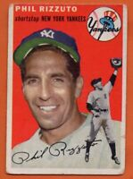 1954 Topps #17 Phil Rizzuto VG WRINKLE New York Yankees FREE SHIPPING