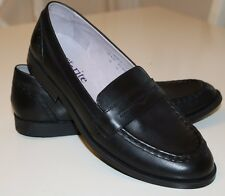 START-RITE ENGLAND- PENNY -BLACK LEATHER LOAFERS FORMAL SHOES- UK6.5F EUR40F NEW