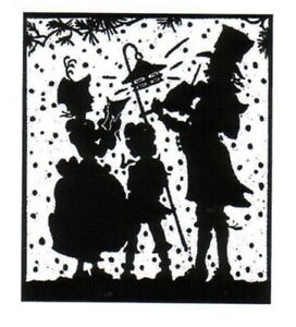 Christmas - Silhouette - Carol Singers #2 Unmounted Clear Stamp Approx 60x70mm