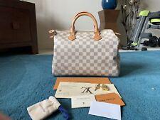 Louis Vuitton Speedy 30 Damier Azur L.K Hot Stamp,Receipted ,dust Bag *Sold Out