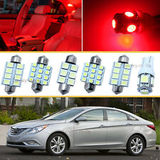 12PCS Xenon Red LED Car Interior Lights Package kit Fit 06-2013 Chevy Impala J1