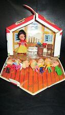 Rare Storykins Snow White And The Walt Disney's Set Seven Dwarfs Cottage Case
