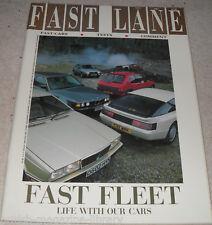 Fast Lane 8/87 Lancia Rally 037 TWR Jaguar XJS vs XJ6 Astra GTE v Citroen BX GTi
