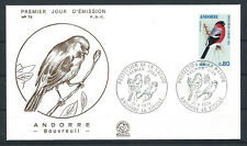 "Andorre - FDC  Enveloppe 21/9/1974 - N°241 Oiseaux ""Bouvreuil"""