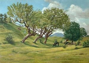 Friedrich Ronfort (German Artist) -El Salvador -Pastoral circa 1942 -Small Gem