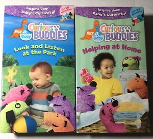 2 Curious Buddies - Look and Listen at the Park & Helping at Home (VHS, 2004)