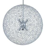 Progress Lighting Estoque 6-Light Polished Chrome Pendant with Crystal Glass