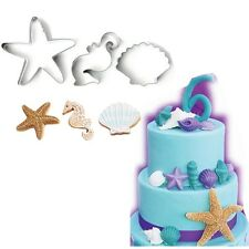 Seashells starfish Biscuit Cookie Pastry Fondant Mold Cutter Cake Decorating