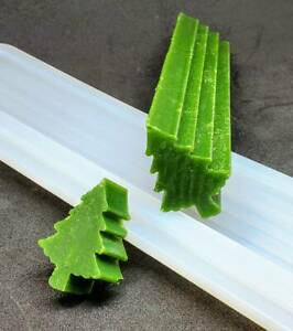 Christmas Tree Soap Cake Candle Silicone Mold Tube Column Mold Soap Embeds ~ New