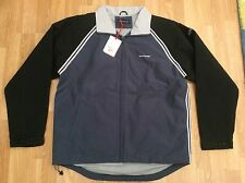 MENS KICKERS PADDED AUTUMN / WINTER JACKET IN PETROL BLUE & BLACK SIZE S
