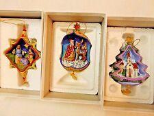 3 Jim Shore Ornament The Danbury Mint Up On The Roof Sacred Night+ Qty 3 All NIB