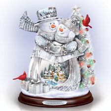 Hugs for the Holiday Snowman Christmas Thomas Kinkade Figurine Bradford Exchange