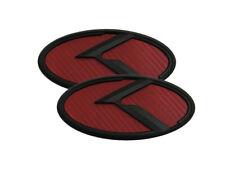 3D K Logo Red Carbon & Black Edition Emblem 2pc SET (Fits: KIA 2020+ Telluride)