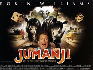JUMANJI ROBIN WILLIAMS Original 1995 UK cinema mini poster Kirsten Dunst