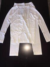 HeatLite Thermal Long Winter Underwear Shirt Pant Set White Girl's Xsmall 4/5