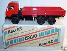 CAMION TRUCK KAMAZ 5320 RUSSE USSR CCCP URSS ROUGE PLATEAU RIDELLES ROUGE 1/43