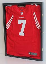 LOCKABLE UV Protect Jersey Display Case Frame Football Basketball Hockey JC01-BL