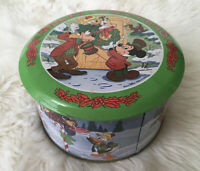 Vintage Disney Merry Christmas Carol Mickey Scrooge Duck Hard Candy Tin 111