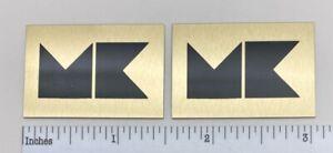 M&K Speaker Badge Logo Emblem Pair Custom Made Aluminum Miller Kreisel