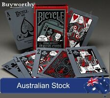 Tragic Royalty Playing Cards Halloween Undead BICYCLE Glow in UV Light Deck New