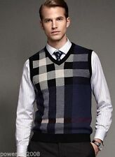 Sleeveless 100% Wool Casual Shirts for Men