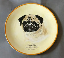 Pug Dog Plate Artist Signed Made In England