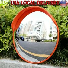 """24"""" Traffic Convex Mirror Wide Angle Safety Mirror Driveway Outdoor Security USA"""