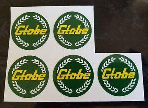 5 set Globe mag wheel centres green stickers bathurst car decals - Aus