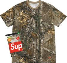 Supreme FW17 Hanes® Realtree® Tagless Tees 2 Pack BOX LOGO SHIRT CLASSIC CAMO DS