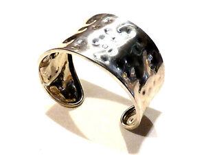 Bijou argent 925 martelé bracelet manchette  élégant idéal pour cadeau bangle