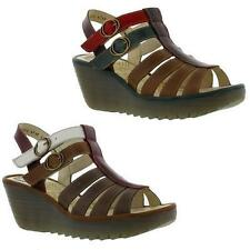 FLY London Wedge Sandals 100% Leather Heels for Women