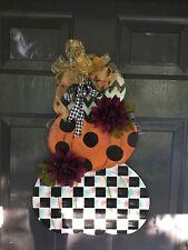 My Handpainted Pumpkins With Mackenzie Child's Napkin