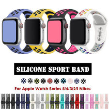 Silicone Sport Band Strap For Apple Watch Series 6 SE 5 4 3 2 1 40 44mm 38 42mm