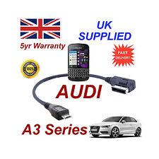 AUDI A3 4f0051510m CAVO PER BLACKBERRY Q10 MICRO USB CAVO AUDIO