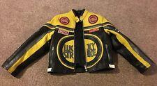 Lucky Strike Black Leather Motorbike Jacket Children Age 10 Kevin Schwantz