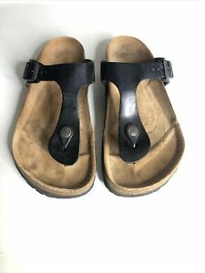 Birkenstock Gizeh Regular Fit Black Sandals - Size 5/EUR 38