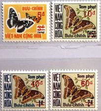VIETNAM SOUTH Buu-chinh 1974 Porto 21-24 J21-24 Due Butterflies Moths Insects **