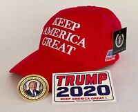 """President Donald Trump Hat  """" KEEP AMERICA GREAT"""" + 2 Decals....HOT New Design!"""