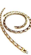 "2 Tone Hugs And Kisses Stampato Necklace & Bracelet & Hoop Earrings Set 18"" XOXO"