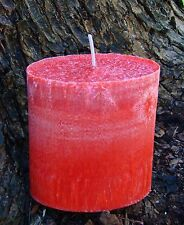 90hr FRESH STRAWBERRIES Triple Scented Natural Pillar OVAL Candle FRUITY GIFTS