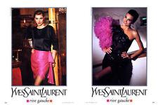 1991 YSL Yves Saint Laurent Elgort Yasmin Le Bon 4-page MAGAZINE AD