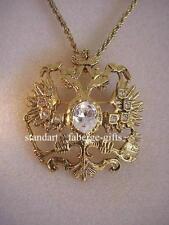 """Empress Marie"" Imperial Romanov double headed Eagle diamond Pendant Necklace"