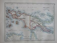 1897 VICTORIAN MAP ~ NEW GUINEA POSSESSIONS KAISER WILHELMS ISLAND