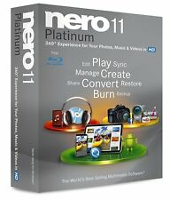 NERO 11 PLATINUM CD/DVD BLU-RAY BURNING FULL VERSION RETAIL GENUINE LICENSE