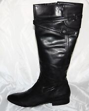 New Authentic Guess Knee High Boots By Marciano Benate Black Leather   10