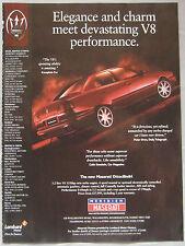 1997 Maserati Ottocillindri Original advert